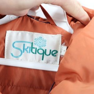 Skitique Jackets & Coats - 80s Skitique Mens XL Down Fill Puffer Vest Orange